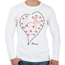 PRINTFASHION Sziv1 - Férfi hosszú ujjú póló - Fehér
