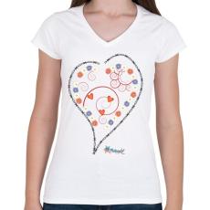 PRINTFASHION Sziv1 - Női V-nyakú póló - Fehér