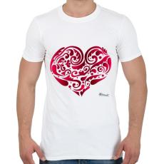 PRINTFASHION Szív - Férfi póló - Fehér