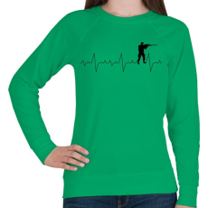 PRINTFASHION Szívverés PUBG CSGO - Női pulóver - Zöld