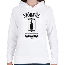PRINTFASHION szodaviz-black-white - Női kapucnis pulóver - Fehér