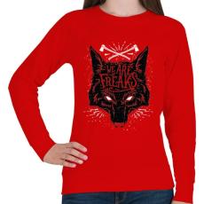 PRINTFASHION Szörnyek vagyunk - Női pulóver - Piros