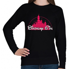 PRINTFASHION Szülinapos csaj - Női pulóver - Fekete