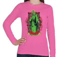 PRINTFASHION Szűzek rózsája - Női hosszú ujjú póló - Rózsaszín
