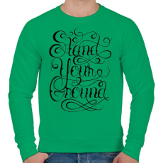 PRINTFASHION Talpon állni - Férfi pulóver - Zöld