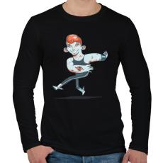 PRINTFASHION Táncos - Férfi hosszú ujjú póló - Fekete
