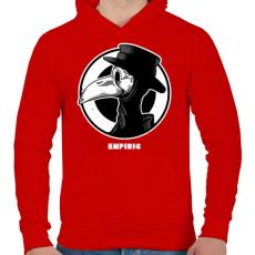 PRINTFASHION Tapasztalt - Férfi kapucnis pulóver - Piros