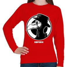 PRINTFASHION Tapasztalt - Női pulóver - Piros