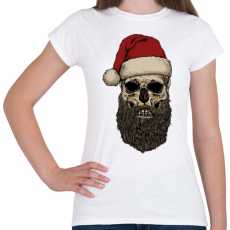 PRINTFASHION Télapó szakálla - Női póló - Fehér