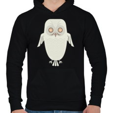 PRINTFASHION Téli bagoly - Férfi kapucnis pulóver - Fekete