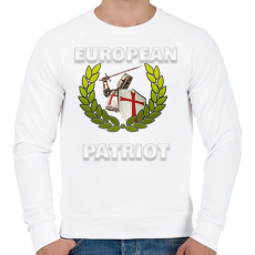 PRINTFASHION Templomos Patrióta  - Férfi pulóver - Fehér