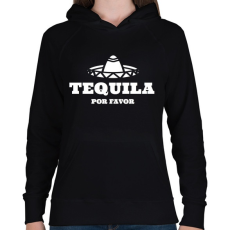 PRINTFASHION TEQUILA Por Favor - Női kapucnis pulóver - Fekete