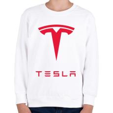 PRINTFASHION Tesla - Gyerek pulóver - Fehér