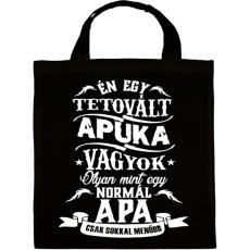 PRINTFASHION Tetovált Apuka - Vászontáska - Fekete