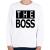 PRINTFASHION The Boss - Gyerek pulóver - Fehér