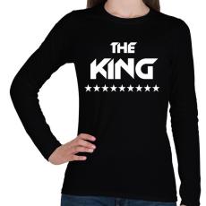 PRINTFASHION The King - Női hosszú ujjú póló - Fekete