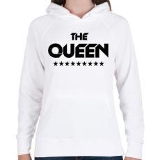 PRINTFASHION The Queen - Női kapucnis pulóver - Fehér