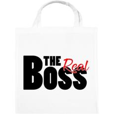 PRINTFASHION The Real Boss - Vászontáska - Fehér