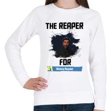 PRINTFASHION The Reaper - Női pulóver - Fehér