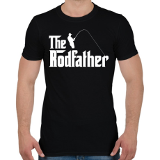 PRINTFASHION The Rodfather Fehér - Férfi póló - Fekete