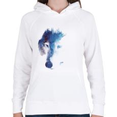 PRINTFASHION Through many storms - Női kapucnis pulóver - Fehér