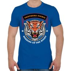 PRINTFASHION Tigris - Férfi póló - Királykék