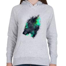 PRINTFASHION Tigriscsavar - Női kapucnis pulóver - Sport szürke