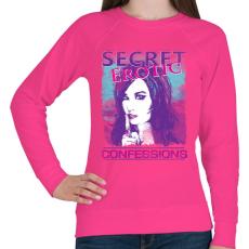 PRINTFASHION Titkos erotikus vallomások - Női pulóver - Fukszia