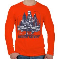 PRINTFASHION Titkos - Férfi hosszú ujjú póló - Narancs
