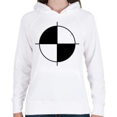 PRINTFASHION töresteszt - Női kapucnis pulóver - Fehér