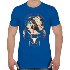 PRINTFASHION Törzsfőnök - Férfi póló - Királykék