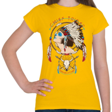 PRINTFASHION Törzsfőnök - Női póló - Sárga
