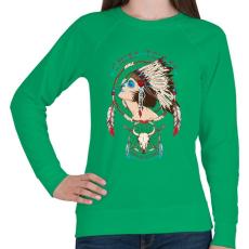 PRINTFASHION Törzsfőnök - Női pulóver - Zöld
