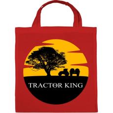 PRINTFASHION TRACTOR KING - Vászontáska - Piros