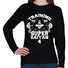 PRINTFASHION Training to go super saiyan 4 - Női pulóver - Fekete