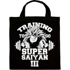 PRINTFASHION Training to go super saiyan - Vászontáska - Fekete