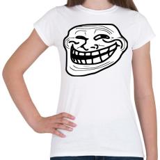 PRINTFASHION TrollFace - Női póló - Fehér