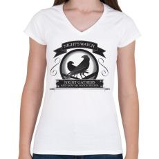PRINTFASHION Trónok harca  - Női V-nyakú póló - Fehér