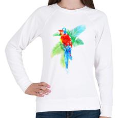 PRINTFASHION Tropical party - Női pulóver - Fehér