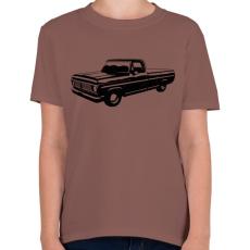PRINTFASHION Truck - Gyerek póló - Mogyoróbarna