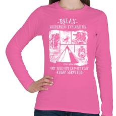 PRINTFASHION Túlélőtábor - Női hosszú ujjú póló - Rózsaszín