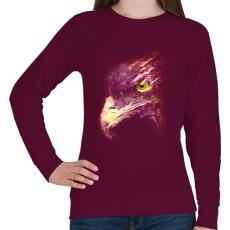 PRINTFASHION Tűzgolyó - Női pulóver - Bordó