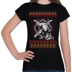 PRINTFASHION Tűzoltó karácsony - Női póló - Fekete