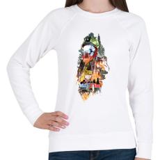 PRINTFASHION Tűzoltó - Női pulóver - Fehér