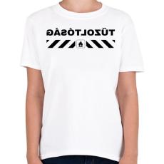 PRINTFASHION tűzoltósag-black - Gyerek póló - Fehér