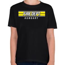 PRINTFASHION Tűzoltóság Magyarország - Gyerek póló - Fekete