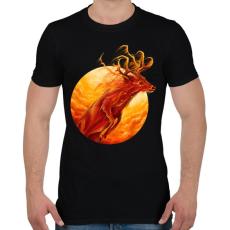 PRINTFASHION Tűzszarvas - Férfi póló - Fekete