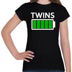 PRINTFASHION TWINS - Női póló - Fekete