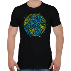 PRINTFASHION UFO Invázió - Férfi póló - Fekete