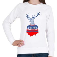 PRINTFASHION Ugly winter pulover - Női pulóver - Fehér